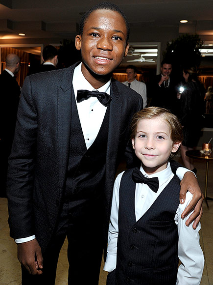 Jacob Tremblay and Abraham Attah Narrowly Avoid a Dinosaur Attack Ahead of the Oscars| Academy Awards, Oscars 2016, Room, Movie News