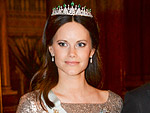 Pregnant Princess Sofia Stuns in Diamond Tiara – and a Gold Dress Borrowed From a Friend!