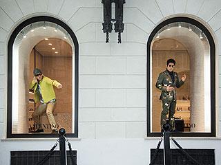 Model-Off! Ben Stiller and Owen Wilson Strike Their Best Zoolander Pose in Rome Shop Window