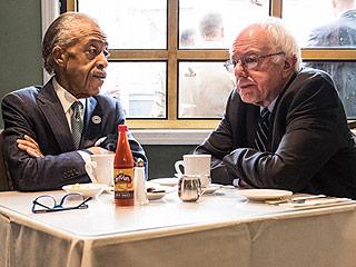 Breakfast with Bernie: Sanders Meets with Rev. Al Sharpton in Harlem