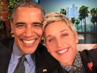 Ellen DeGeneres and Barack Obama Document Historical Moment on Her Show with a Selfie