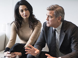 George and Amal Clooney Meet with German Chancellor Angela Merkel to Discuss Syrian Refugee Crisis