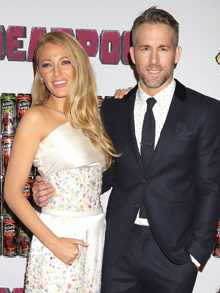 Blake Lively and Ryan Reynolds at Deadpool Fan Event in NYC