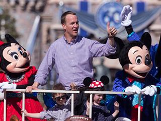 Peyton Manning Celebrates Super Bowl Win with His Children at Disneyland