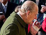Prince Philip Attends Sunday Services with the Queen – and a Mysteriously Bandaged Hand