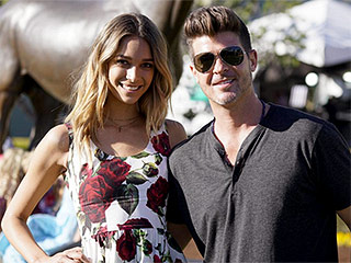 Day at the Races: Robin Thicke and Girlfriend April Geary Visit Santa Anita Park