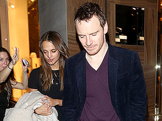 Alicia Vikander Hits London with Michael Fassbender Ahead of BAFTAs Appearance
