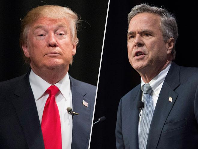 It's Come Down to This: Donald Trump Teases Jeb Bush About His ... Glasses| 2016 Presidential Elections, politics, Donald Trump, Jeb Bush