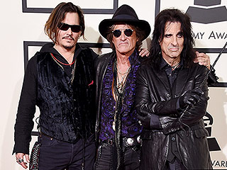 Johnny Depp Says He's 'Very Lucky' to Perform Onstage with The Hollywood Vampires, as Alice Cooper Calls His Guitar Skills 'Killer'