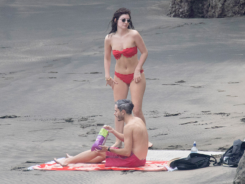 Lorde Wears Red Bikini For Beach Day with Friend Justin Warren