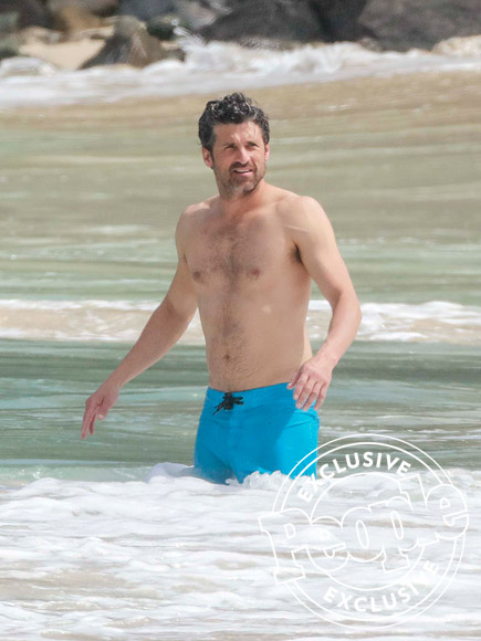 Patrick Dempsey and Wife Jillian Hit the Beach in St. Barts After Source Says They Called Off Divorce  Breakups, Couples, Patrick Dempsey