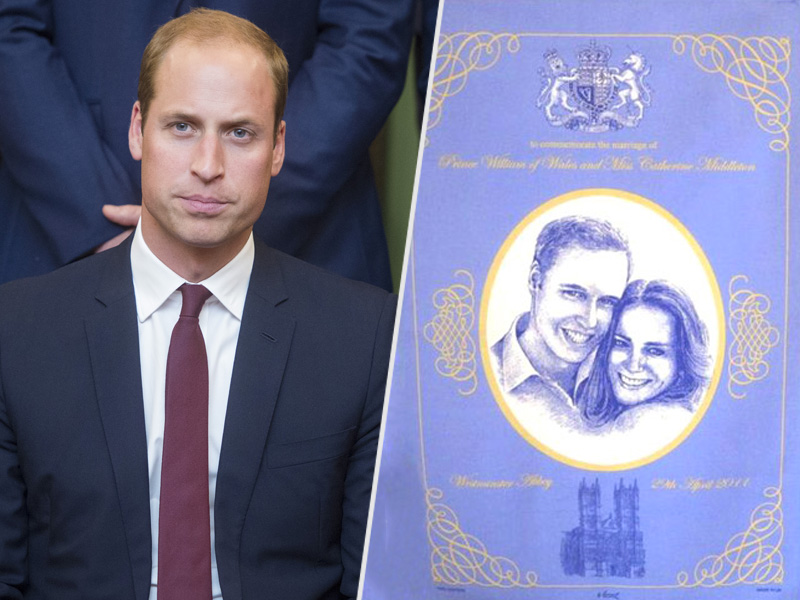 Prince William Dried Dishes with Towels That Had His Own Face on Them