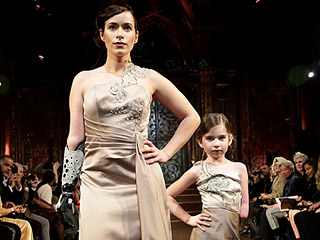 Model with Bionic Arm Walks NYFW with Little Girl Born the Same Way: 'She's My Mini Me!'