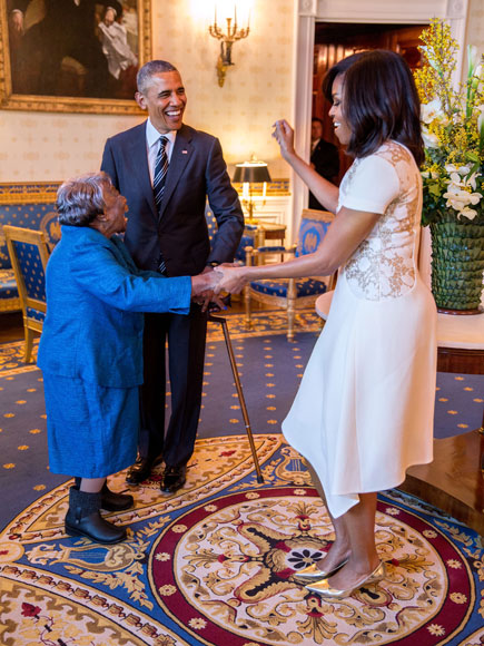Meet the 106-Year-Old Woman Who Danced with the Obamas at the White House – Plus, Why She Wants Hillary Clinton to Be the Next President| politics, Barack Obama, Michelle Obama