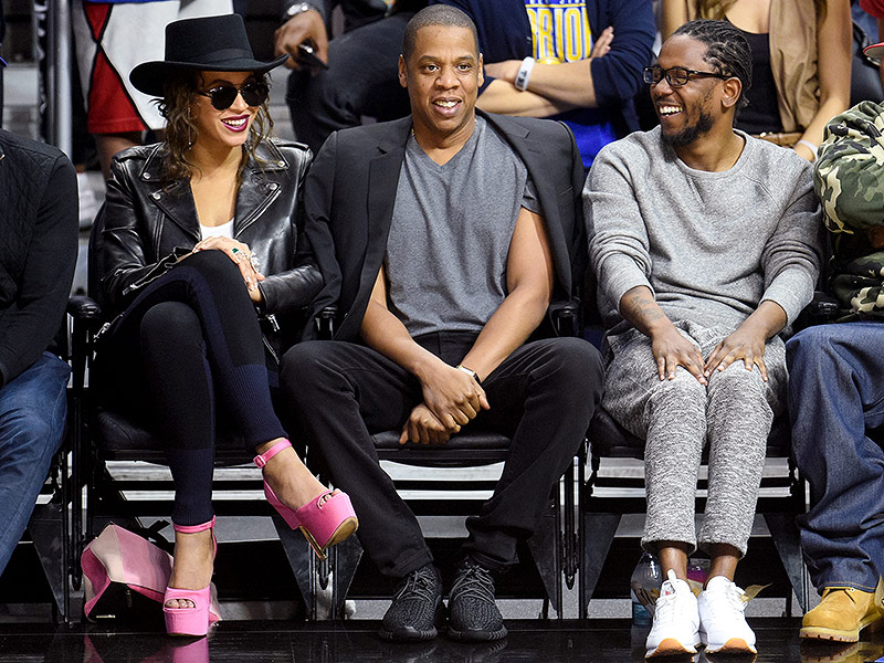Crazy in Love! Beyoncé and Jay Z Act 'Really Cute' While Sitting Courtside with Kendrick Lamar| Music News, Beyonce Knowles, DJ Khaled, Jay-Z, Kendrick Lamar
