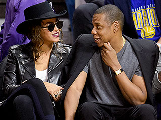 Crazy in Love! Beyoncé and Jay Z Act 'Really Cute' While Sitting Courtside with Kendrick Lamar