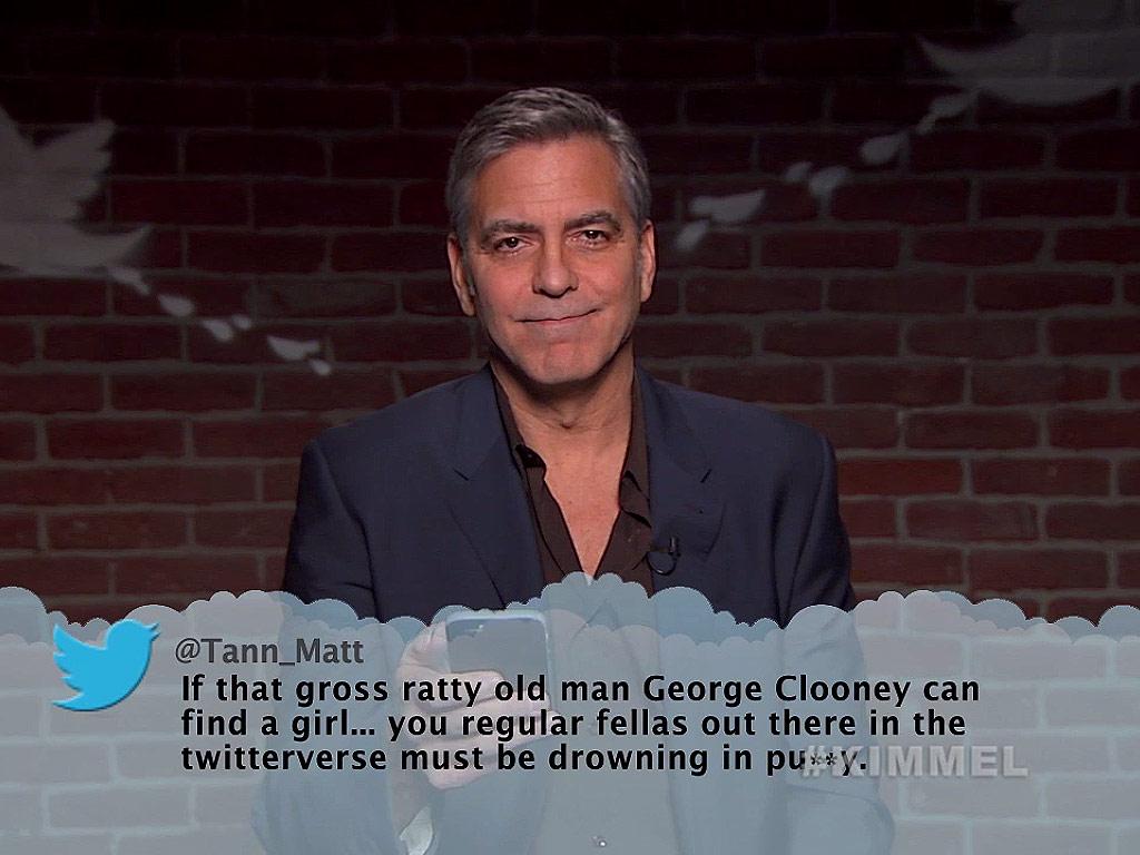 Mean Tweets Movie Edition: See George Clooney, Eddie Redmayne and More Recite Harsh Slams from the Twittersphere!  Jimmy Kimmel Live, George Clooney, Kevin Hart, Sean Penn, Seth Rogen, Susan Sarandon, Taraji P. Henson, Zach Galifianakis