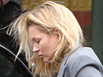 Kate Moss Spotted Walking with a Leg Brace and Crutches in London