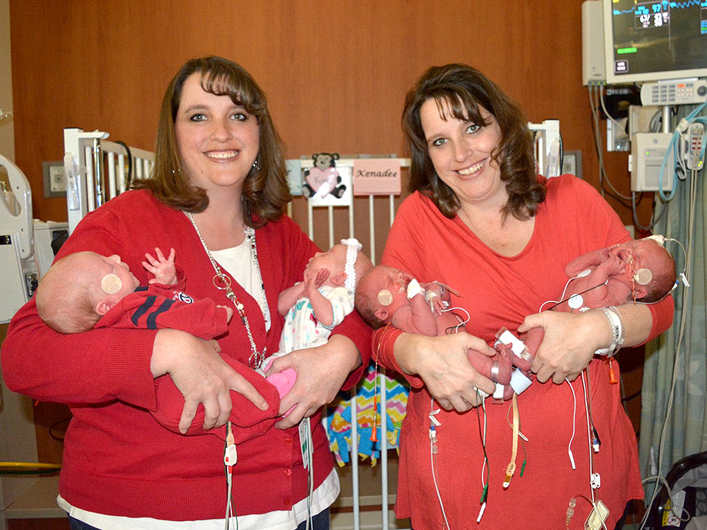 Twin Sisters From Utah Give Birth to Second Sets of Twins
