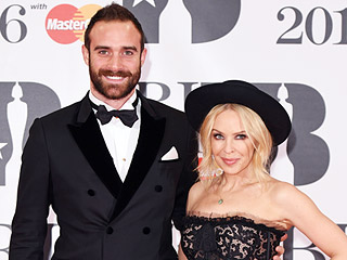 Kylie Minogue Shows Off Her Engagement Ring at the BRIT Awards with Fiancé Joshua Sasse