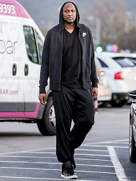 Lamar Odom Goes Grocery Shopping More Than One Week After First Public Appearance at Kanye West's Fashion Show| TV News, Kanye West, Lamar Odom