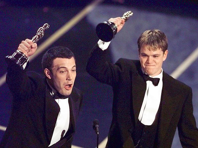 Oscar Flashback! See Matt Damon Bask in His Very First Academy Award Win (Alongside Pal Ben Affleck, Of Course)| Academy Awards, Oscars 2016, Good Will Hunting, Movie News, Ben Affleck, Matt Damon