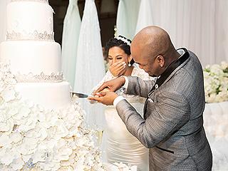 Check Out NE-YO's 6-Foot-Tall, Swarovski Crystal-Encrusted Wedding Cake