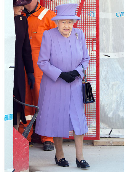 London's New Train Line Named After Queen Elizabeth – and She Dresses Perfectly Purple for the Occasion| The British Royals, The Royals, Queen Elizabeth II