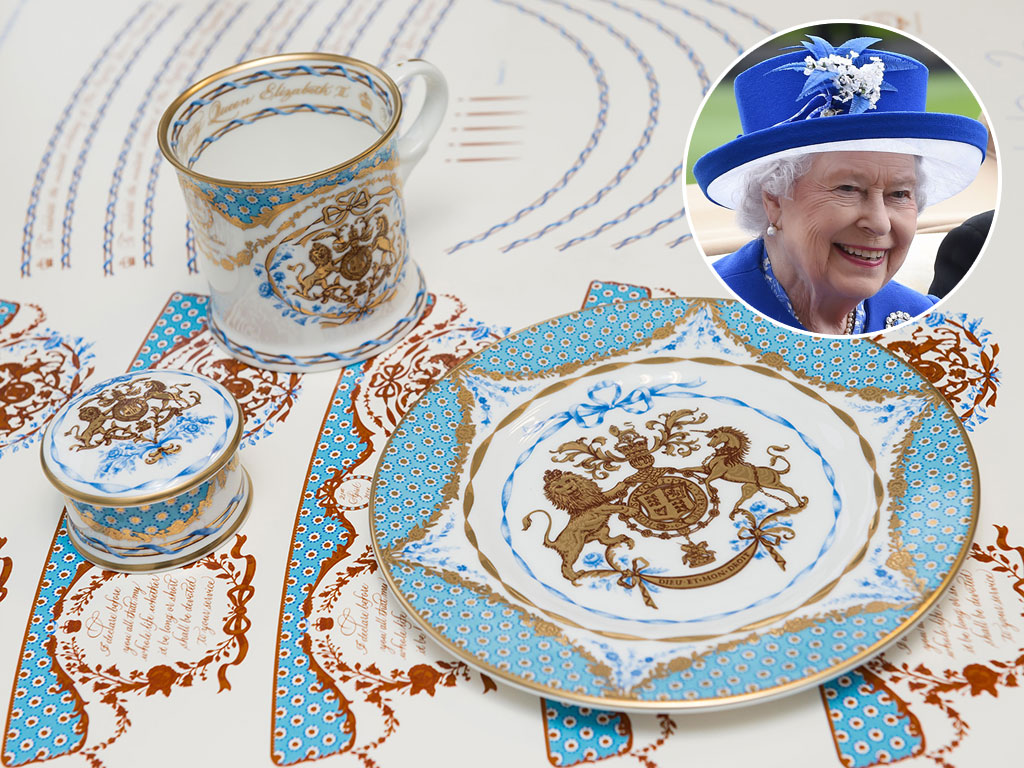 See How Queen Elizabeth's 90th Birthday China Is Made – with 22-Karat Gold!| The British Royals, The Royals, Queen Elizabeth II