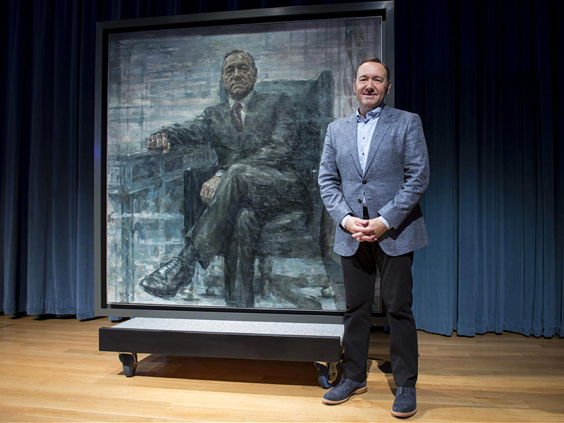 Underwood 2016! Kevin Spacey Debuts House of Cards Presidential Portrait at the Smithsonian| House of Cards, House of Cards, TV News, Kevin Spacey, Robin Wright