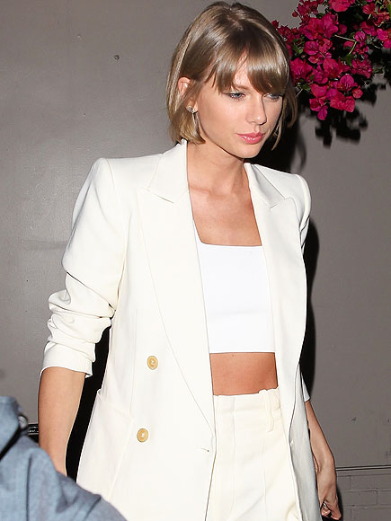 Taylor Swift Bares Midriff on Night Out with Producer Pal Jack Antonoff