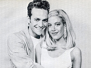 Back to the 90210: Tori Spelling Posts #TBT with Luke Perry from Her 18th Birthday (When They Kissed!)