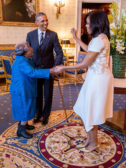 VIDEO: The Obamas' Visit with 106-Year-Old Virginia McLaurin Prompts a White House Dance Party| politics, Barack Obama, Michelle Obama
