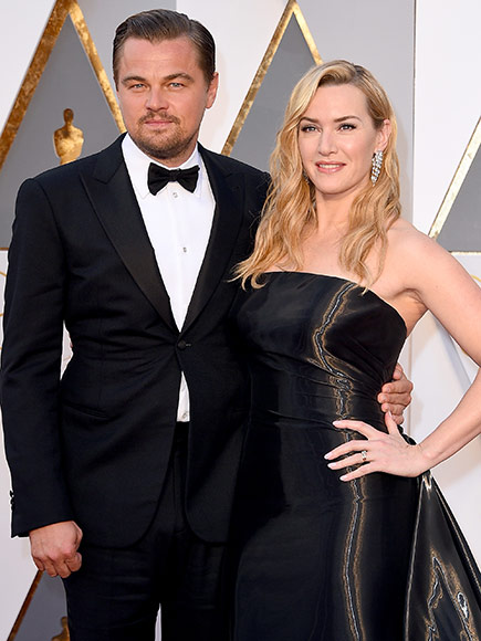 Leonardo DiCaprio and Kate Winslet Have a Titanic Reunion at the Oscars| Academy Awards, Oscars 2016, Movie News, Kate Winslet, Leonardo DiCaprio