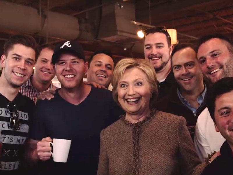 Watch Hillary Clinton Accidentally Crash a Bachelor Party, Joke 'I Love Having Men at My Feet'| 2016 Presidential Elections, politics, Hillary Rodham Clinton