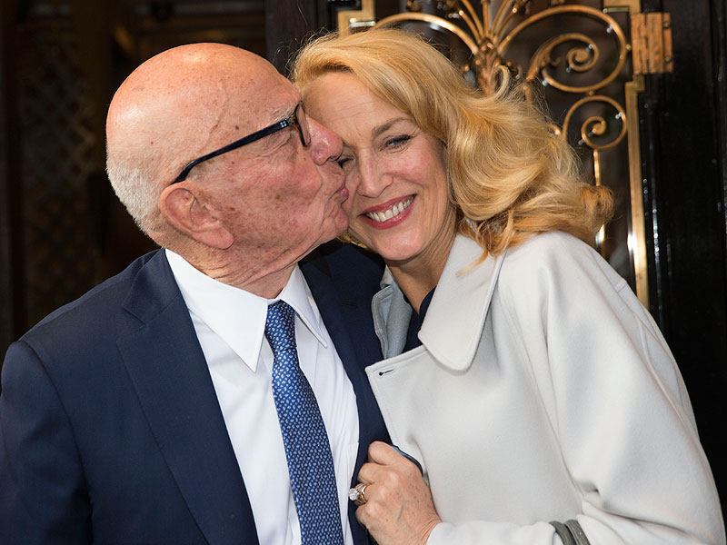 Jerry Hall and Rupert Murdoch Married in Civil Ceremony