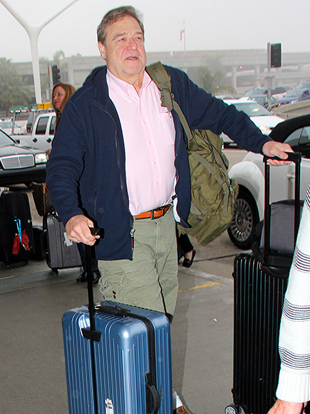 John Goodman Looks Slimmer Than Ever Leaving LAX After the Oscars