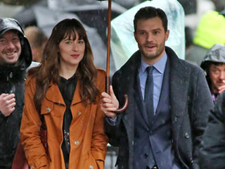 Spoiler Alert? Looks Like Christian and Anastasia Got Back Together: Jamie Dornan & Dakota Johnson Kiss on Set of Fifty Shades Darker