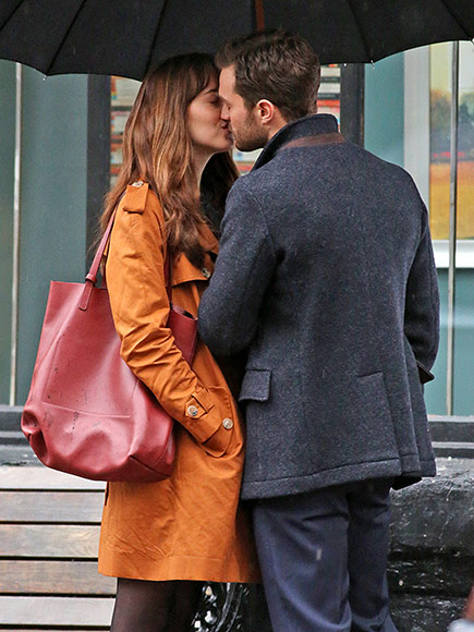 Spoiler Alert? Looks Like Christian and Anastasia Got Back Together: Jamie Dornan & Dakota Johnson Kiss on Set of Fifty Shades Darker| Fifty Shades of Grey, Movie News, Dakota Johnson, Jamie Dornan