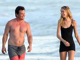 Josh Brolin Packs on the PDA During Romantic Beach Day with Fiancée Kathryn Boyd