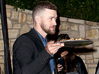 Justin Timberlake and Jessica Biel Take Their Pizza to Go During Rare Night Out at Pre-Oscars Bash