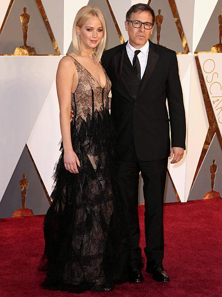 Joy's Jennifer Lawrence and David O. Russell Buddy Up at Vanity Fair's Post-Oscars Bash  Academy Awards, Oscars 2016, Movie News, David O. Russell, Jennifer Lawrence