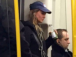 Bridget Jones Takes the Tube! Renée Zellweger Keeps a Low Profile on London Subway