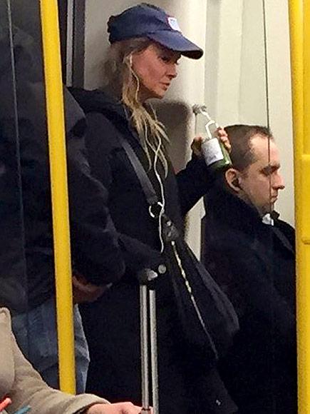 Renee Zellweger Rides the London Underground