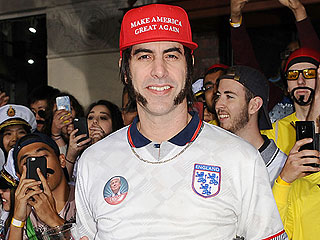 Sacha Baron Cohen Endorses Donald Trump in Character at The Brothers Grimsby Premiere: 'He's the Ultimate Football Hooligan'