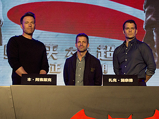 Ready for a Showdown: Batman v Superman's Ben Affleck & Henry Cavill Arrive in China to Promote Film
