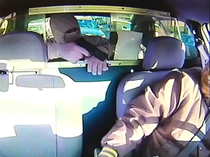 Police Officer Stops Armed Cab Robbery in Progress