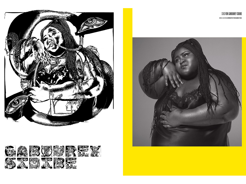 Gabourey Sidibe Poses in Lingerie for V Magazine's 100th Anniversary Issue