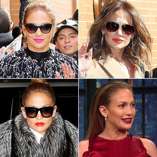 Jennifer Lopez bold lipstick moments