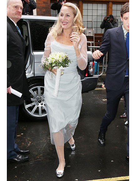 And the Bride Wore Blue! Jerry Hall and Rupert Murdoch Celebrate Their Wedding at the 'Journalists' Church' in London| Weddings, Jerry Hall, Rupert Murdoch